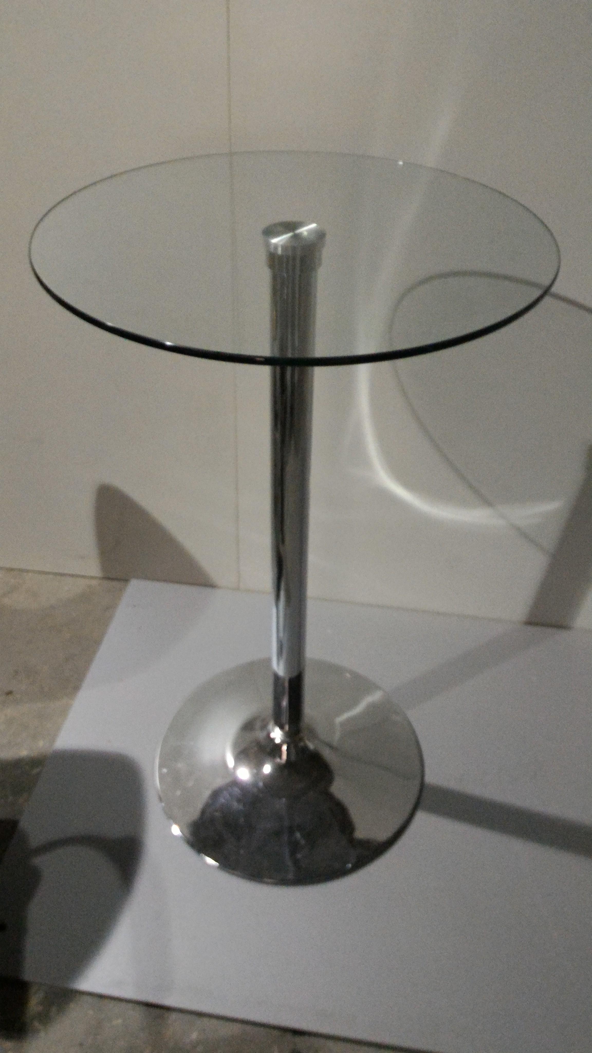 Стол барний скляний